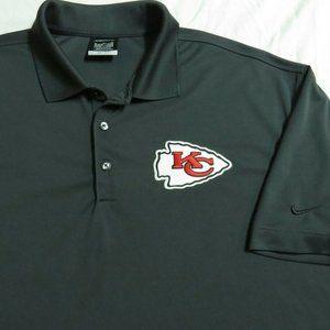 S-XL Kansas City Chiefs Nike Dri-Fit Mens 30L Polo